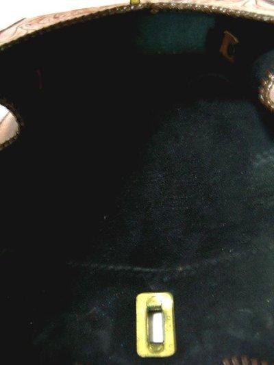 画像2: ☆ ヴィンテージ 花彫り模様 型押しメキシカン本革レザーバック1 ☆