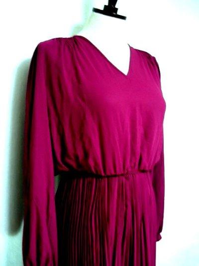画像2: アコーディオンプリーツスカート!!アンティークドレス