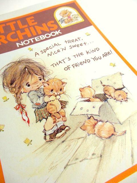 画像1: 可愛い女の子とネコ表紙 dead stockノートブック【3444】 (1)