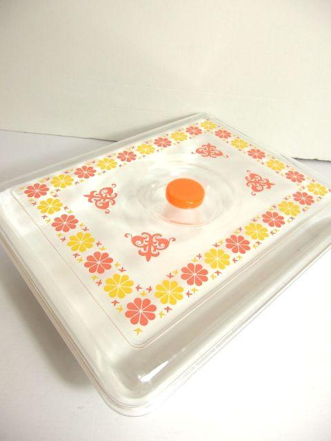 画像1: ☆ 1970年代 オレンジ×イエロー Home case ☆ (1)