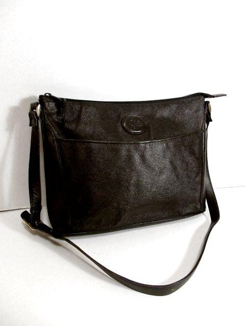 画像1: 大きめサイズ ブラック 本革レザー レディース レトロ ショルダー 鞄 バッグ【5210】 (1)