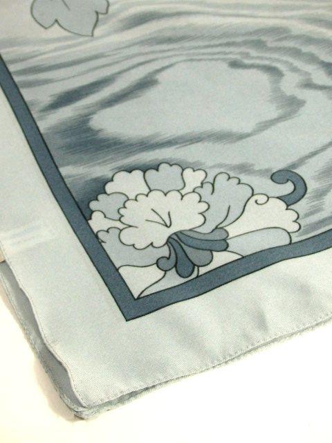 画像1: レトロアンティーク ヴィンテージスカーフ グレーグラデーション イタリア製【6261】 (1)