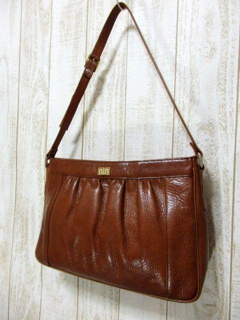 画像1: レザー ブラウン 色合いカタチが可愛い レディース レトロ ショルダー 鞄 バッグ【6279】 (1)