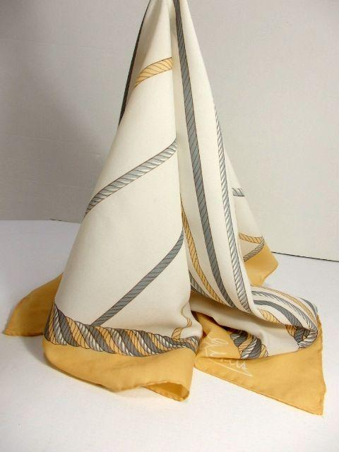 画像1: レトロアンティーク ヴィンテージスカーフ ブレード柄【6330】 (1)