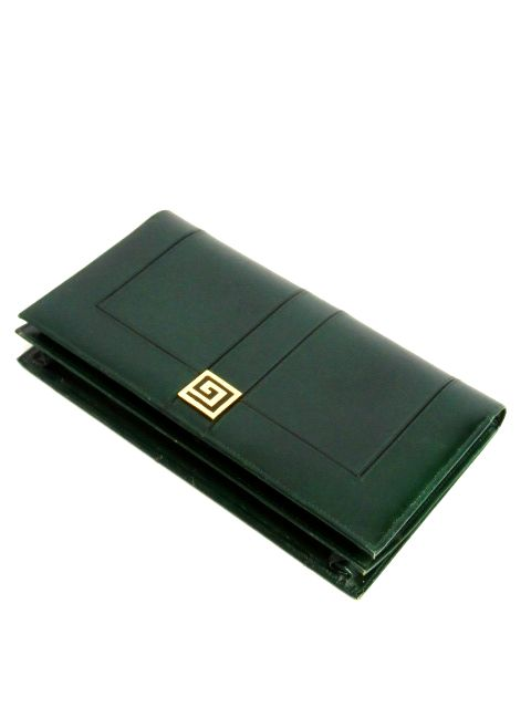 画像1: 深めのグリーン レザー レディース レトロ クラッチ 鞄 バッグ【6476】 (1)