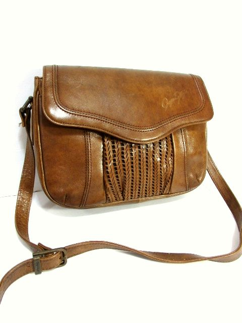 画像1: レザー ブラウン 色合い風合いが素敵 レディース レトロ ショルダー 鞄 バッグ【6502】 (1)