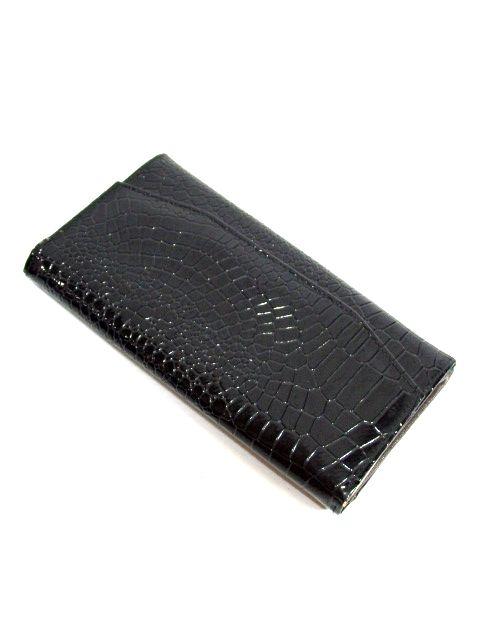 画像1: ブラック レディース レトロ 財布 ウォレット【6510】 (1)