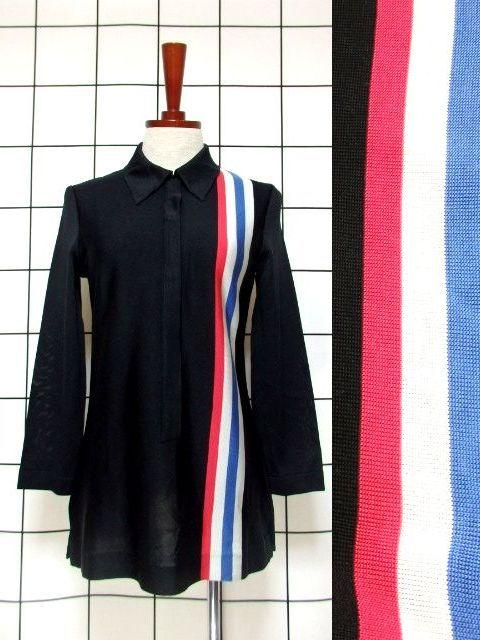 画像1: ヴィンテージトップス ストライプ トリコロールライン ホワイト×ブルー×レッド 70's レトロ 長袖 (1)