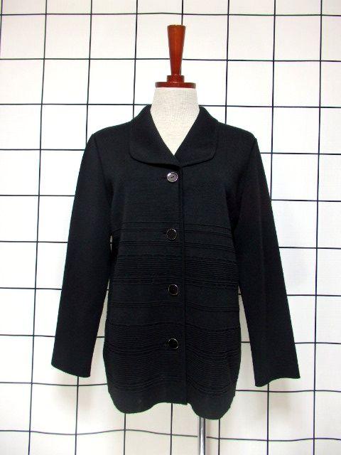 画像1: ニットジャケット 70's〜80's レトロ Black (1)