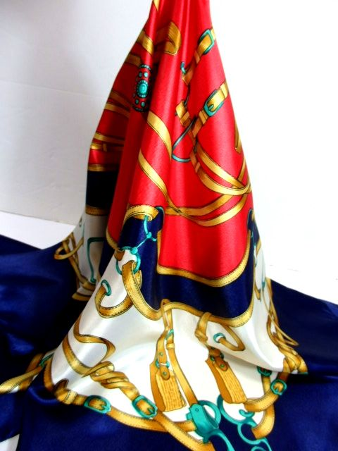 画像1: レトロアンティーク ヴィンテージスカーフ ヨーロッパ【7302】 (1)
